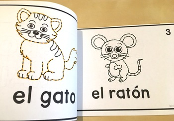 Spanish Speech Therapy Tracing Mini-Book: Los animales - Animals