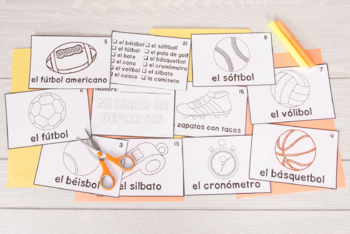 Spanish Tracing Mini-Book: Los deportes - Sports