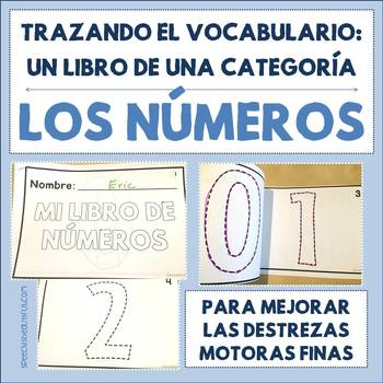 Spanish Tracing Mini-Book: Los números - Numbers