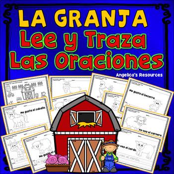Spanish : Palabras de uso frecuente - Lee y traza oraciones - La granja