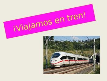 Spanish Train Travel Vocabulary Powerpoint