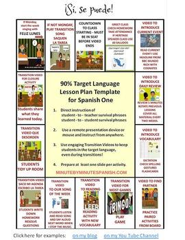 026 Spanish Transition Video Improves Class Management, Behavior, Routines