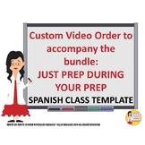 Spanish Transition Videos Custom Bundle for Claudia