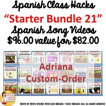Spanish Transition Videos Starter Kit for Adriana