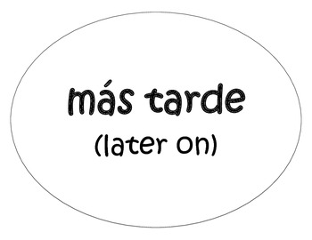 Spanish Word Wall- Transition Words