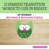 AP SPANISH. - TRANSITIONAL WORDS PUZZLE