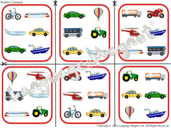 Spanish Transport Bingo