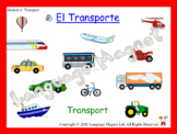 Spanish Transport Presentation, Audio Sheet and Bingo Game