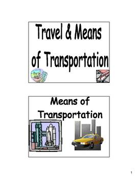 Spanish Transportation Bulletin Board & Flash Cards (El Transporte)