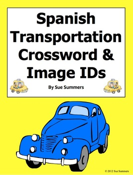 Spanish Transportation Crossword Puzzle and Vocabulary - El Transporte