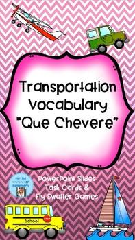 Spanish Transportation Vocabulary