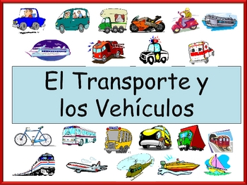 spanish transportation vocabulary powerpoint activities and games. Black Bedroom Furniture Sets. Home Design Ideas