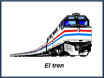 Spanish Transportation Vocabulary Powerpoint (Activities and Games)