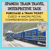 Spanish Travel Authentic Train Ticket Activity
