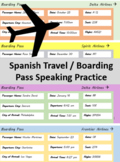 Spanish Travel / Boarding pass Speaking Practice