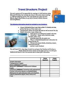 Spanish: Travel Brochure Project
