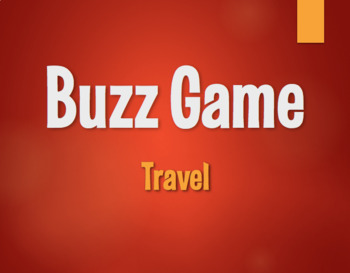 Spanish Travel Buzz Game