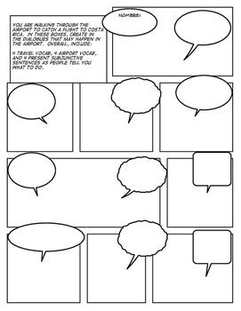 Spanish Travel Comic Strip