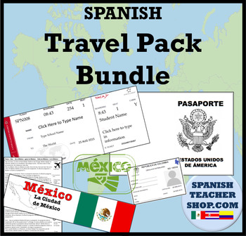 Spanish Travel Pack Bundle by SpanishPlans | Teachers Pay ...