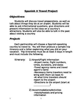 Spanish Travel Project