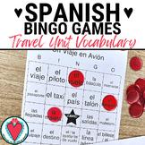 Spanish Travel Unit Bingo | Un Viaje en Avion