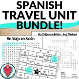 Spanish Travel Unit Bundle - Word Search, Crossword & Bingo