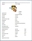 Spanish - Travel Vocabulary Sheet