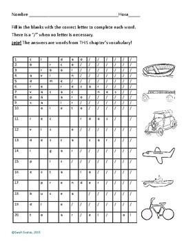 Spanish Traveling & Vacation Practice & Quiz! (8A)
