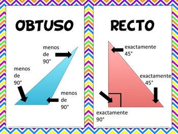 Spanish Triangles Vocabulary Cards and Word Wall