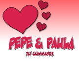 Spanish Tú Commands Pepe and Paula Reading