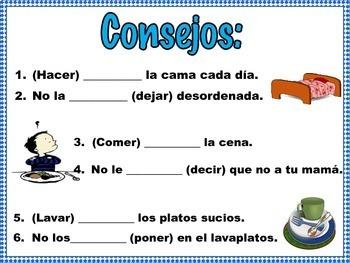 Spanish Informal Commands Practice EN LA CASA