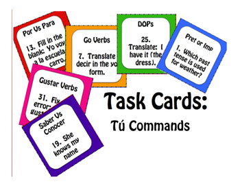 Spanish Tú Commands Stations