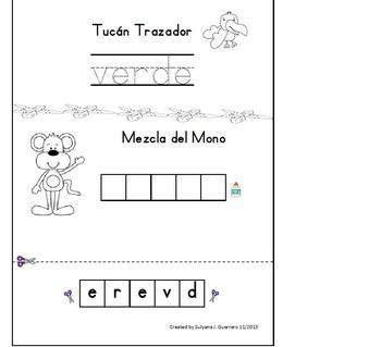 Spanish: Tucan Trazador con los 10 colores basicos