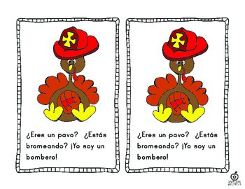Spanish Turkey Emergent Reader