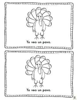Spanish Turkey Emergent Reader: Counting Turkeys