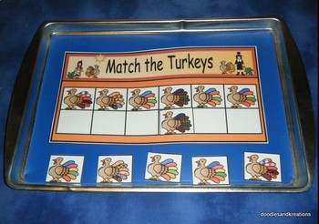 Spanish Turkey Matching Activities