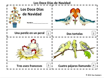 Spanish Christmas - Twelve Days of Christmas Booklets / Navidad