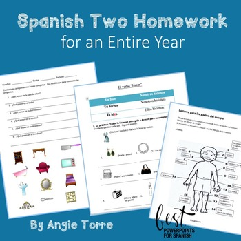 Spanish Two Homework for an Entire Year