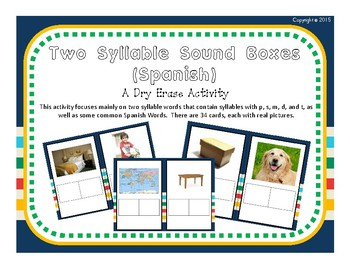 Spanish Two Syllable Sound Boxes