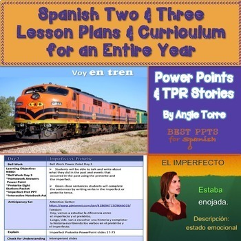 Spanish Two and Three Lesson Plans and Curriculum for an E