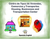 Spanish Types of housing, Businesses and Transportation in a Station