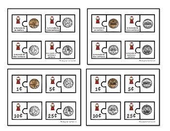 Spanish U.S. Coin Puzzles