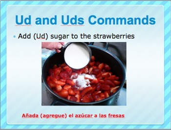 Spanish Ud and Uds commands bundle