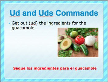 Spanish Ud and Uds commands activity