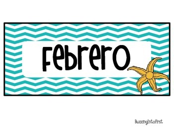 Spanish Under The Sea Calendar Set