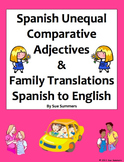 Spanish Unequal Comparative Adjectives SPANISH TO ENGLISH