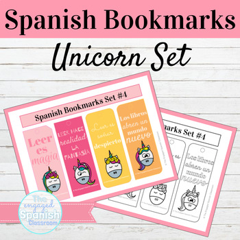 Spanish Unicorn Bookmarks