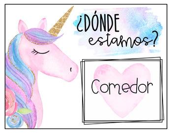 Unicorn Classroom Décor {Spanish Version}