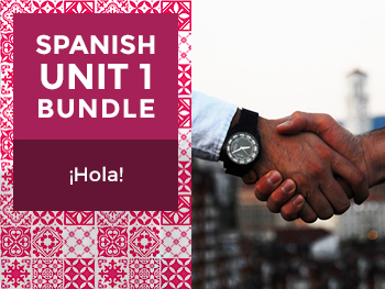 Spanish Unit 1 Bundle: ¡Hola! - Hello!