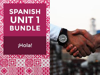 Spanish Unit 1 Bundle: ¡Hola! - Hello!